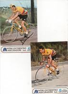 2 CARTES   DUSI  ET D ARCANGELO INTERCONTINENTALE ASSICURAZIONI - Cycling