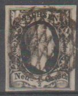 276/ Mi: 3a ; Used;1851; Cat €  15.00 - Sachsen