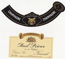 Etiquette Champagne Paul Prioux Et Ses Enfants à Verneuil / Demi-Sec - Champagne