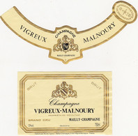 Etiquette Champagne VIGREUX-MALNOURY à MAILLY-CHAMPAGNE / BRUT - Champagne