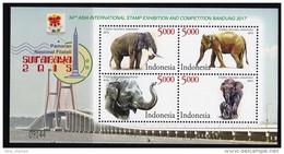 Indonesia 2015 Surabaya Stamp Exhibition Elephant Bridge SS MNH - Elefanten