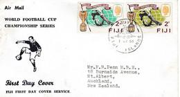 FIJI FDC 12 - FOOT  COUPE Du MONDE 1966 - 1966 – Engeland