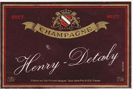Etiquette Champagne Henry-Detaly / Sarl Poilvert-Jacques à Talus-Saint-Prix / BRUT - Champagne