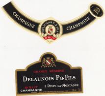 Etiquette Champagne DELAUNOIS P. & FILS à Rilly-la-Montagne / BRUT GRANDE RESERVE - Champagne