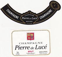 Etiquette Champagne Pierre De Lucé à Reims / BRUT - Champagne