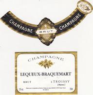 Etiquette Champagne LEQUEUX-BRAQUEMART à TROISSY / BRUT - Champagne