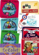 Lot N°128 De 8 étiquettes De Fromage Neuves Pas Décollées - Käse