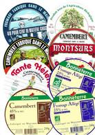 Lot N°139 De 8 étiquettes De Fromage Neuves Pas Décollées - Käse