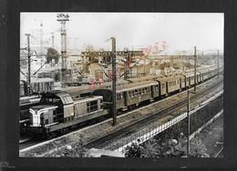 PHOTO ORIGINALE 23X16 LOCOMOTIVE SORTIE GARE DE L EST VERS LA VILLETTE : - Railway