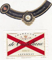 Etiquette Champagne De Castellane à Rpernay / BRUT / Magnum - Champagne