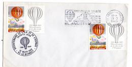 1983--FDC  Bicentenaire Air Et Espace..cachets LE BOURGET-93 +NESLES LA VALLEE-95 - 1980-1989