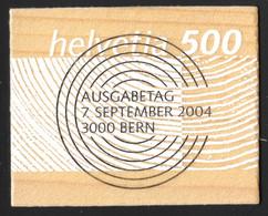 2004 Sondermarke Rohstoff Schweizer Holz Voll-ET Nr. 1133 / Mi-Nr. 1889 - Used Stamps