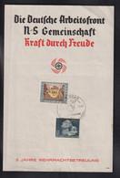 DR Deutsche Arbeitsfront KDF SSt Den Haag - Militaria