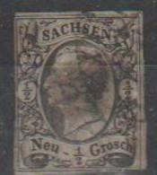 285/ Mi: 8 ; Used;1855; Cat €  8.00 - Sachsen
