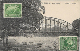 AK OLD POSTCARD - HAITI - ST MARC - PONT SONDE' - SONDE'S BRIDGE - VIAGGIATA 1925 - U45 - Haiti