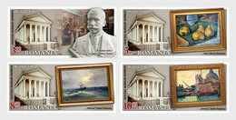 Romania 2021 / Collections Of Lost Museums - SIMU Museum / Set 4 Stamps With Labels - Neufs