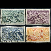 FRANCE 1949 - Scott# B244-7 Bas-Relief Set Of 4 Used - Used Stamps