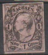 289/ Mi: 9 II  ; Used;1855; Cat €  8.00 - Sachsen