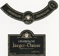Etiquette Champagne Jaeger-Claisse à Reuil / BRUT - Champagne
