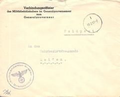 Feldpost Wehrmeldeamt Meißen  - Krakau1940 - Officials