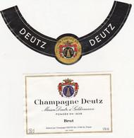 Etiquette Champagne DEUTZ à Aÿ / BRUT / Magnum - Champagne