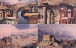 Jordan - - - 4 Phonecards Chip - - - Landmarks (3 Of Puzzle) - Jordan