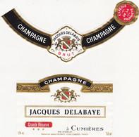 Etiquette Champagne JACQUES DELABAYE à Cumières / BRUT GRANDE RESERVE - Champagne