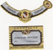 Etiquette Champagne DONDELINGER-BROUCKAERT à Verneuil / BRUT - Champagne
