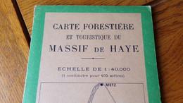 Nancy Toul Massif De La Haye Carte Forestière - Geographical Maps
