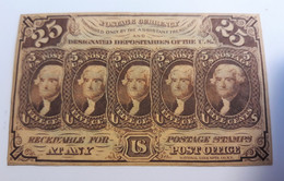 Billet Fractionnel Etats-Unis 1862 / 25 Cents - 1862 : 1° Emission