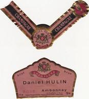 Etiquette Champagne Daniel HULIN à Ambonnay / BRUT ROSE - Champagne