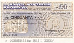 MINIASSEGNO LA BANCA POPOLARE DI MILANO AUTOSTRADE CONCESSIONI E COSTRUZIONI AUTOSTRADE S.P.A. - [10] Cheques Y Mini-cheques