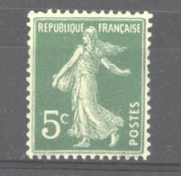 0ob  0517  -  France  :  Yv  137  * - 1906-38 Semeuse Camée