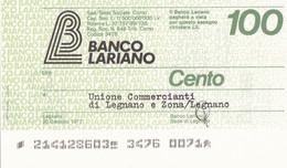 MINIASSEGNO BANCO LARIANO UNIONE COMMERCIANTI DI LEGNANO E ZONA LEGNANO - [10] Cheques Y Mini-cheques