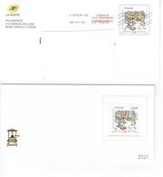 Prêt à Poster Voeux Interne Au Groupe La Poste 2021 Métiers D'Art Gravure Sur Métal Lettre Prioritaire Internationale - Listos A Ser Enviados: Otros (1995-...)