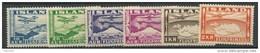 Islande 1934 Poste Aérienne N° 15/20 Neufs * MVLH, Cote 55 Euros - Airmail