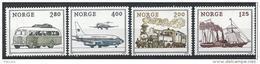 Norvège 1980  N°773/776 Neufs** Norwex Expo. Avion, Bateau, Bus, Train - Neufs