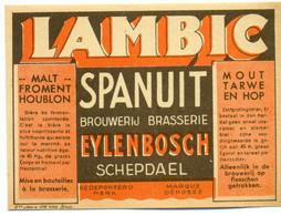 Oud Etiket / Ancienne étiquette Bier Bièrre : Lambic - Brouwerij Eylenbosch Schepdaal - Bier