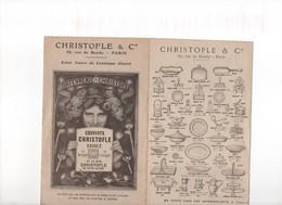 CHRISTOFLE & CIE, Orfèvrerie, Dépliant Publicitaire, 8 Pages De Représentations De Pièces De La Marque - Reclame