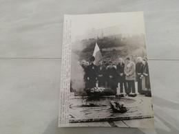 23196 PHOTO DE PRESSE   24CMX18CM  14-1-1981 MONTE CASSINO ITALIE  LECH WALESA POLOGNE - Zonder Classificatie
