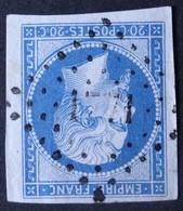 14B TB Margé, Variété Filet NO, Obl PC 1771 Loudun (80 Vienne ) Ind 3 - 1849-1876: Periodo Classico