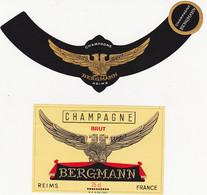 Etiquette Champagne BERGMANN à REIMS / BRUT (Aigle) - Champagne