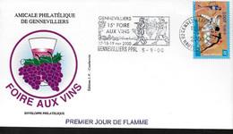 FRANCE Lettre 2000 Gennevilliers Vin Raisins - Wein & Alkohol