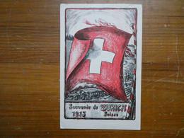 SUISSE Carte Postale Suisse Dédiée Aux Internés,  Comité Rapatriés De Zurich Voir  Scans - War 1914-18