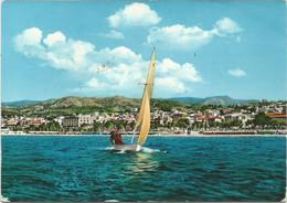 K4417 Reggio Calabria - Il Lido - Panorama Dal Mare - Barche Boats Bateaux / Viaggiata 1960 - Reggio Calabria
