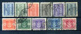 1945 LUOGOTENENZA TASSE 86/96 SET USATO Filigrana Ruota - Postage Due