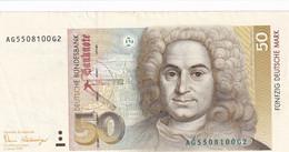 Germany 50 DEM  Fehler Error Print - 50 Deutsche Mark