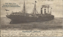 "Bateau - Red Star Line - Postdampfer "" ZEELAND "" - Antwerpen-New York - Antwerpen-Philadelphia - Sin Clasificación"