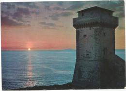 K4424 Livorno - Antignano - Tramonto Dalla Torre Di Calafuria Cala Furia E Isola Della Gorgona / Viaggiata 1978 - Livorno