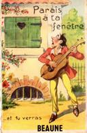 CPA BEAUNE (21) - Carte Système  Paris A Ta Fenêtre - Beaune